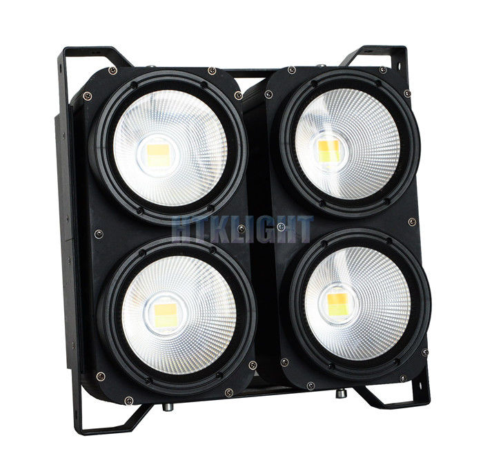 White Audience Matrix Blinder Led Light 4x100W 3200K / 5600K Color Temperature